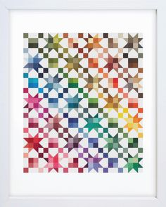Rainbow Quilt Counted Cross Stitch Pattern by EmblemsDesign on Etsy https://www.etsy.com/ca/listing/490682476/rainbow-quilt-counted-cross-stitch