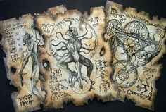 cthulhu Nyarlathotep Rituals Necronomicon Scrolls occult by zarono, $29.99