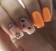 intricate short acrylic nails to express yourself 1 Nail Art Designs, Manicure Nail Designs, Manicure E Pedicure, Hot Nails, Hair And Nails, Ongles Beiges, Jolie Nail Art, Nagellack Trends, Pretty Nail Art