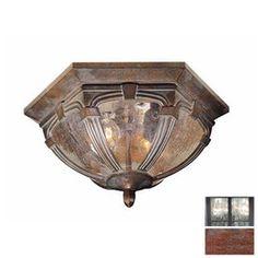 Cascadia Lighting Essex 13-in W Royal Bronze Outdoor Flush Mount Light