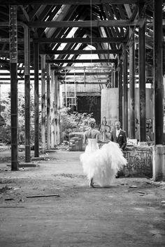 Industriële trouwfoto