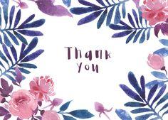 Thank you card design #weddinginvitation #weddinginvitationdesign #graphicdesign #floraldesign #pink #printdesign #watercolor #thankyoucard #thankyoucarddesign #thankyou