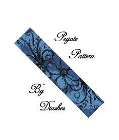 Peyote Beading pattern Bracelet cuff Flower. by DiushesPatterns