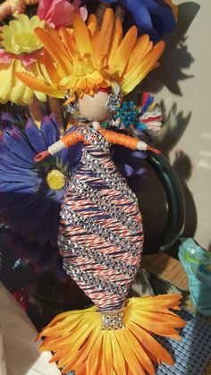 Orange & Blue mermaid