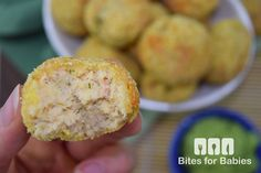 These two-bite salmon croquettes are a healthy and tasty finger food that lend well to baby-led weaning or as a dinner party appetizer.