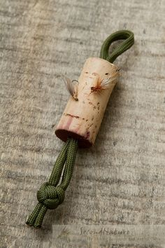 Fly Drying Wine Cork for Fishing Lanyards or Vests by 2econdNature