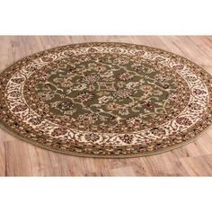 Barclay Sarouk Border Green Area Rug