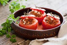 tomate recheado com lentilha (e tofu?)