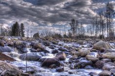 This water falls over a small weir. Behind it is the popular beach Sahalampi. HDR by Jyri K Fall Over, Photoshop Elements, Hdr, Waterfall, Popular, Mountains, Beach, Photography, Photograph