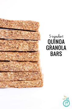 Someone in your family have food allergies? Not to fear, these granola bars are oat-free, gluten-free, refined sugar-free, vegan and can easily be made nut-free by using a seed butter!