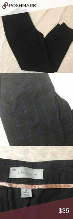Cropped black and blue Gap trousers Cropped black and blue Gap trousers in excellent condition GAP Pants Trousers