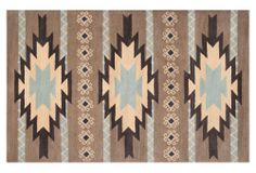 One Kings Lane - The New Southwest - Waterloo Rug, Taupe/Aqua. Too southwest? But I love it!