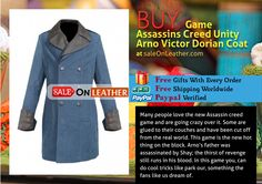 Game Assassins Creed Unity Arno Victor Dorian Coat