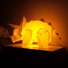 Your very own triceratops dinosaur lamp