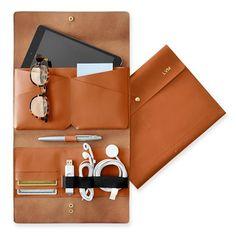 LAUREN - Leather Tech Envelope   Mark and Graham