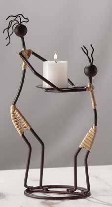 Design Wonders 10 Successful Living Room Accessories - Different - store. Candle Stand, Candle Holders, Tuscan Kitchen Design, Tuscan Design, Tuscan Style, Design Patio, Living Room Accessories, Metal Garden Art, Scrap Metal Art
