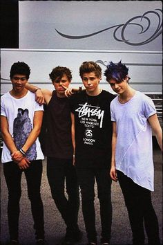 """""""We must be the most frustrating band to get a serious photo of lol :p going exploring in NY today! Woo!"""""""