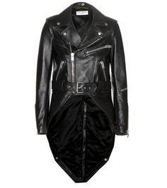 ¡Cómpralo ya!. Leather Jacket. Black Leather Jacket By Saint Laurent , chaquetadecuero, polipiel, biker, ante, anteflecos, pielflecos, polipielflecos, antelina, chupa, decuero, leather, suede, suedette, fauxleather, tassel. Chaqueta de cuero  de mujer color negro de SAINT LAURENT.