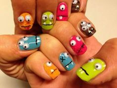 Awesome monster nails