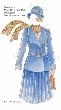 Nancy Drew Sleuth: Nancy Drew Paper Dolls somebody get this for me! Nancy Drew Costume, Detective Theme, Paper Dolls Clothing, Nancy Drew Books, Nancy Drew Mysteries, Storybook Characters, Fictional Characters, Paper Dolls Printable, Girls Series