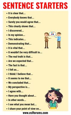 Bildung englisch Sentence Starters Useful Words and Phrases You Can Use As Sentence Starters Essay Writing Skills, English Writing Skills, Book Writing Tips, Writing Words, Teaching Writing, English Speaking Skills, Sentence Writing, Kindergarten Writing, Education English