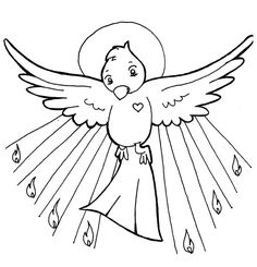 Holy Spirit / Pentecost Catholic Coloring Page