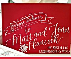 Christmas Calligraphy Envelope Sale - Calligraphy by Jennifer