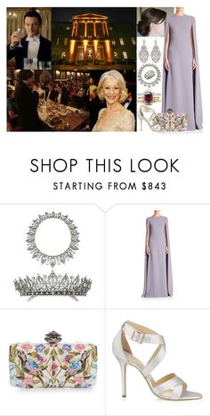 """""""Attending a Burns Supper hosted by Victoria at Stafford House"""" by marywindsor ❤ liked on Polyvore featuring Valentino, Alexander McQueen and Garrard"""