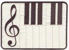 5x7 Musical Mug Rugs