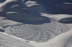 Snow crop circles...fantastic!