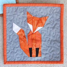 Foundation Paper Pieced Mr Fox | Craftsy (with template)