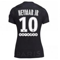 PSG Neymar Jr 10 Dámské Alternativní Dres 17-18 Krátký Rukáv