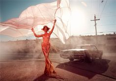 Absolutely IN LOVE with this photo shoot, by Kristian Schuller for Germany's Next Top Model , would you believe? Fashion Shoot, Fashion Week, Editorial Fashion, Women's Fashion, Fabric Photography, People Photography, Portrait Photography, Christian Schuller, Parachute Dress