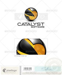 Technology Logo - 3D-665 — Photoshop PSD #abstract • Available here → https://graphicriver.net/item/technology-logo-3d665/524539?ref=pxcr