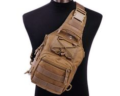 Molle Military 3 Ways Tactical Shoulder Sling Bag Pouch Day Backpack-Tan Hunting Backpacks, Hunting Bags, Day Backpacks, Backpack Bags, Sling Backpack, Edc Bag, Tactical Backpack, Edc Tactical, Shoulder Sling