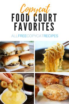 Favorite Food Court Recipes | Hungry for some food court eats? Check out these copycat restaurant recipes straight from the mall 😉