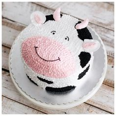 Cow butter cream cake