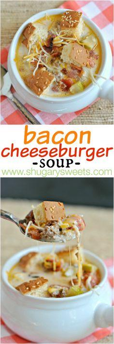 Bacon Cheeseburger Soup: