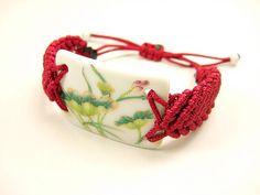 Handmade Adjustable Chinapiece Bracelet by dermusensohn2000, $12.99