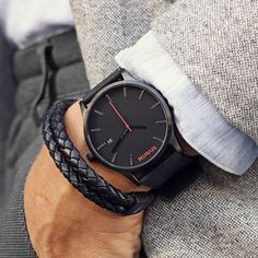 MVMT designed this watch for the dapper man with modern styling at an amazing price. This black faced watch is protected by a hardened…