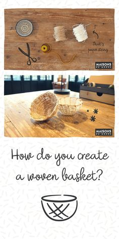 Get weaving with this DIY woven wonder! Create unique baskets that will update your decor and weave you wanting more. Find even more inspiration with Haciend. Do It Yourself Home, Bowl, Diy Videos, Home Accessories, Weaving, Basket, Place Card Holders, Create, Interior