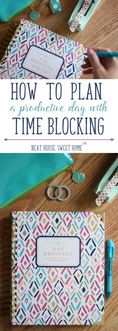 Increase your productivity using the time blocking method. The Day Designer planner helps me do just that!