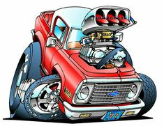 Love the artwork of Ed Roth. This is my place for Rat Fink, Roth Art and others that are Roth like. Any Rat Rod style art as well Cartoon Kunst, Cartoon Drawings, Cartoon Art, Art Drawings, Rat Fink, Weird Cars, Cool Cars, Auto Illustration, Ed Roth Art