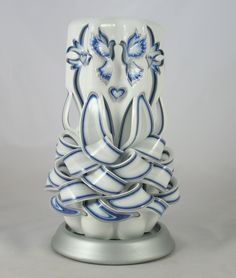 Royal, Silver and White,  unity candle