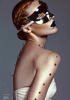 ...metallic mask