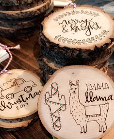 Are you making ornaments for the holidays? The best part about these is that they can double as gifts and decor! These cuties are some of our favorites that we'd seen so far this season by @bravecalligraphyco! So stinkin' adorable! #walnuthollow  #Regram via @walnuthollow