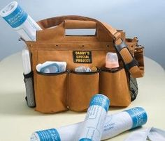 My sister just shared this with me... what a GREAT fathers day gift idea! Daddy Diaper Bag!