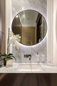 Stylish bathroom decor ideas. Dazzling Design Projects from Lighting Genius DelightFULL | . Mid-century modern lighting: ceiling lights pendant lights wall lights wall sconces chandeliers suspension lamps. Small bathroom designs large and luxurious bathrooms bathrooms for kids bathroom design and contemporary lighting ideas. #ContemporaryDecor
