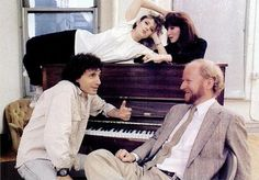 Producer Rocco Landesman, with Bernadette Peters, Joanna Gleason, and Chip Zien