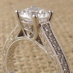 Sylvie Engagement Ring Detail Up Close